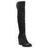 Kožené kozačky nad kolena na masivním podpatku bata, černá, 696-6611 - 13