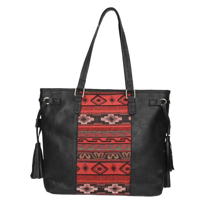 Dámská kabelka v Etno stylu bata, černá, 961-6669 - 19