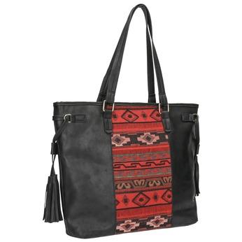 Dámská kabelka v Etno stylu bata, černá, 961-6669 - 13