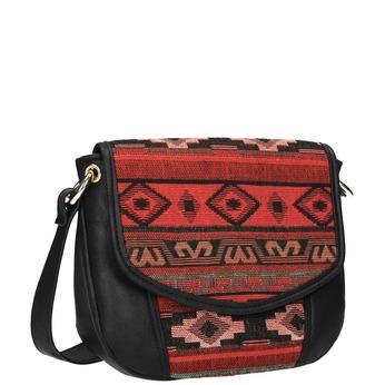 Crossbody kabelka s Etno vzorem bata, černá, 969-6642 - 13