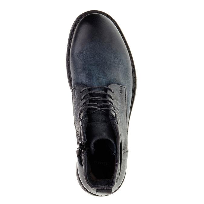Pánská kožená kotníčková obuv bata, černá, 894-6368 - 19