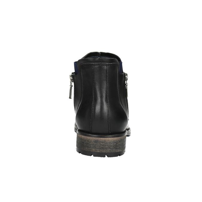 Pánská obuv ve výšce ke kotníkům bata, černá, 894-6656 - 17