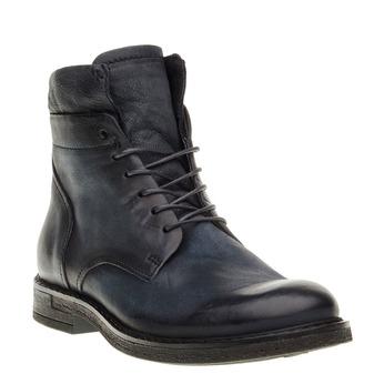 Pánská kožená kotníčková obuv bata, černá, 894-6368 - 13