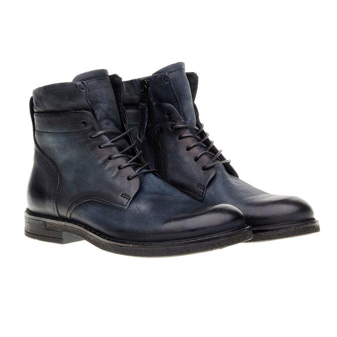Pánská kožená kotníčková obuv bata, černá, 894-6368 - 26