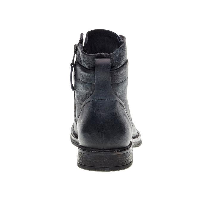 Pánská kožená kotníčková obuv bata, černá, 894-6368 - 17