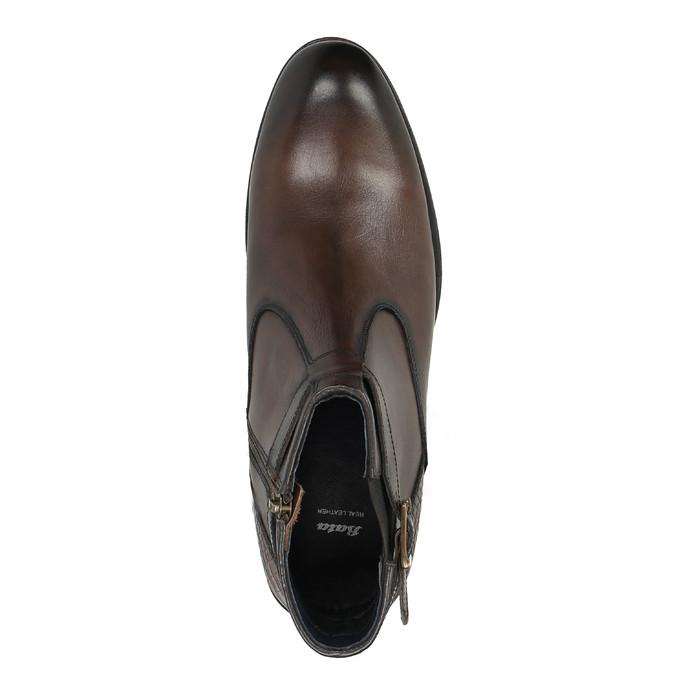Kotníčková pánská obuv s přezkou bata, hnědá, 894-4652 - 19