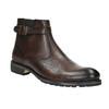 Kotníčková pánská obuv s přezkou bata, hnědá, 894-4652 - 13