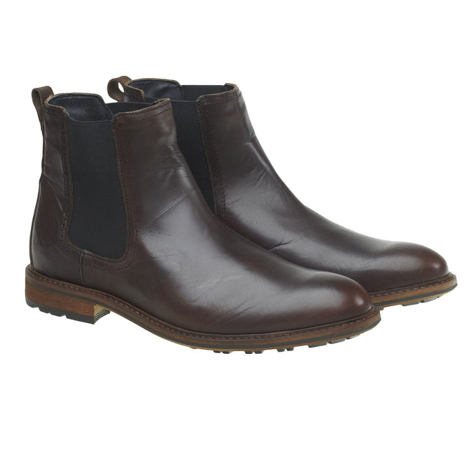 Kožená Chelsea obuv bata, hnědá, 894-4113 - 26