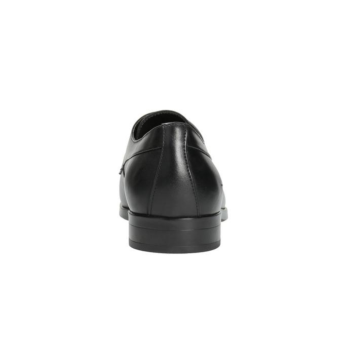Pánské kožené polobotky černé bata, černá, 824-6711 - 17
