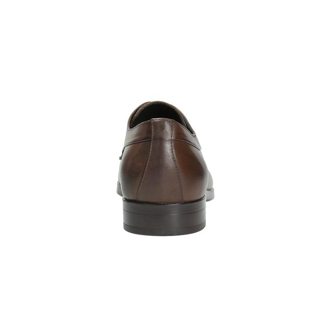 Hnědé kožené polobotky bata, hnědá, 824-4711 - 17