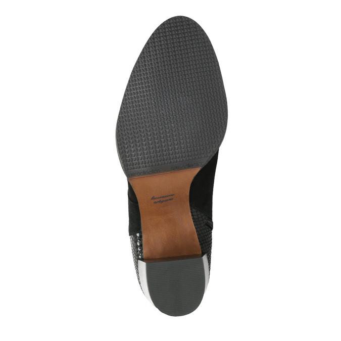 Dámské kožené kozačky bata, černá, 696-6645 - 26