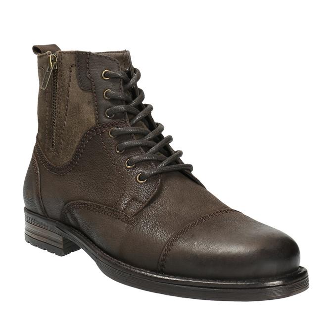Pánská kožená obuv bata, hnědá, 896-4642 - 13