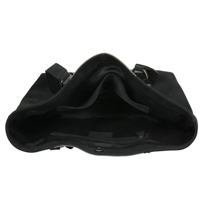 Dámská kožená kabelka bata, černá, 966-6200 - 15