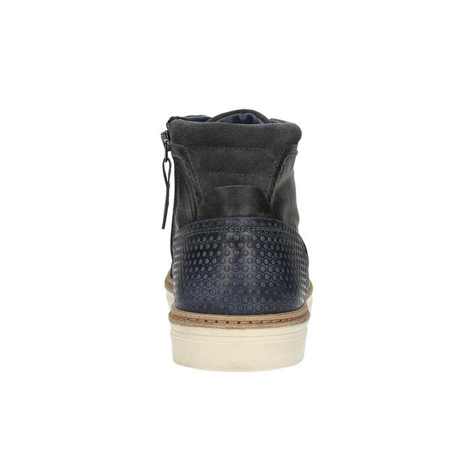 Kožené kotníčkové tenisky se zateplením bata, šedá, 896-2651 - 17