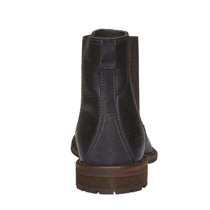 Kožená Chelsea obuv bata, černá, 894-6113 - 17