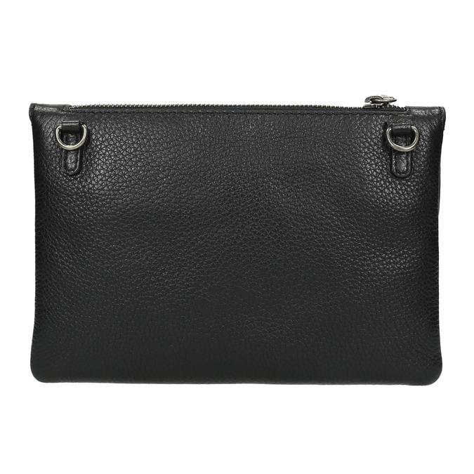 Černé kožené psaníčko s popruhem bata, černá, 964-6210 - 26