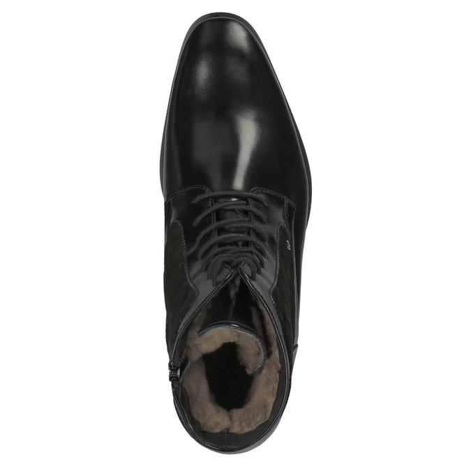 Kožená kotníčková obuv se zateplením conhpol, černá, 894-6677 - 19