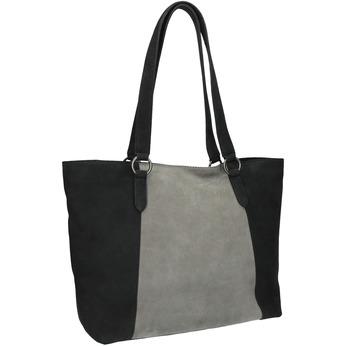 Dámská kožená kabelka bata, černá, 966-6200 - 13