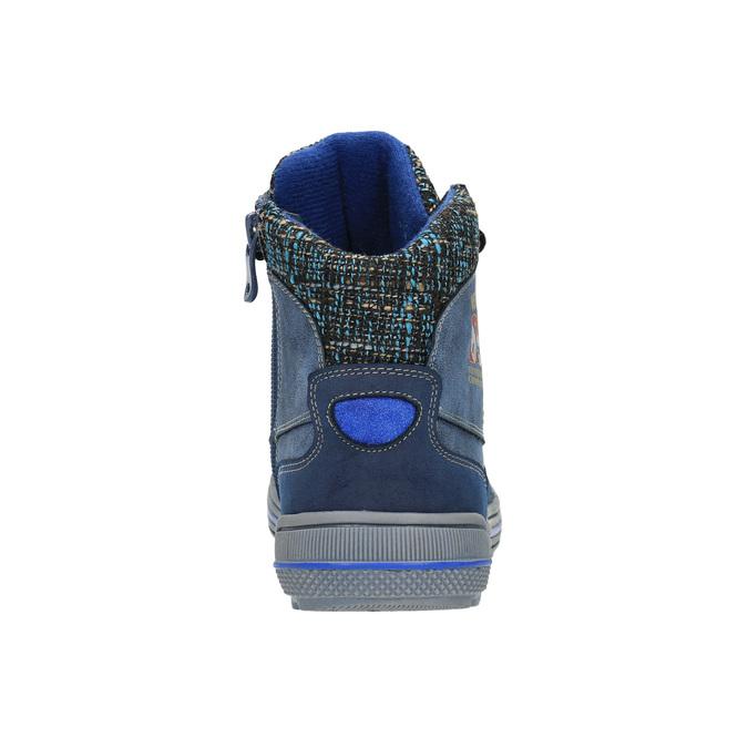 Dětská kotníčková obuv se zateplením mini-b, modrá, 491-9651 - 17