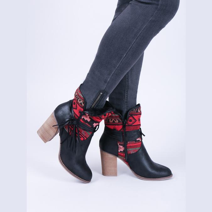 Kotníčkové kozačky ve Western stylu se zateplením bata, černá, 699-6603 - 14