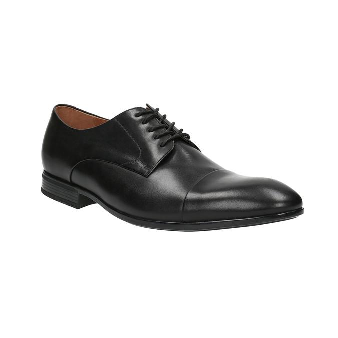 Černé kožené polobotky bata, černá, 824-6769 - 13