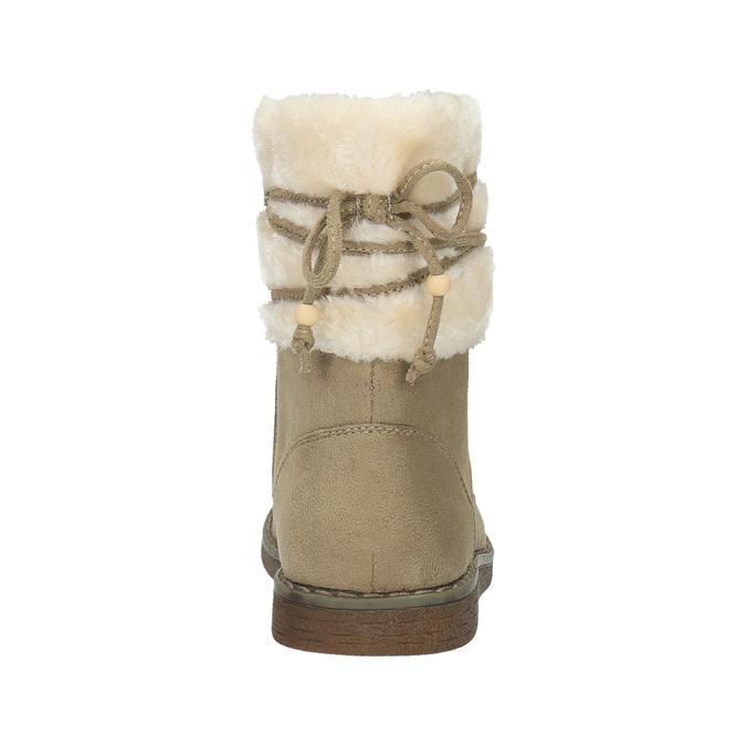 Dětská zimní obuv s kožíškem mini-b, žlutá, 399-8247 - 17