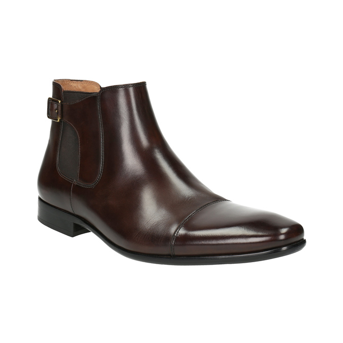 Pánská kožená kotníčková obuv bata, hnědá, 896-4655 - 13