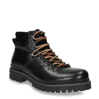 Pánská kožená zimní obuv bata, černá, 894-6180 - 13