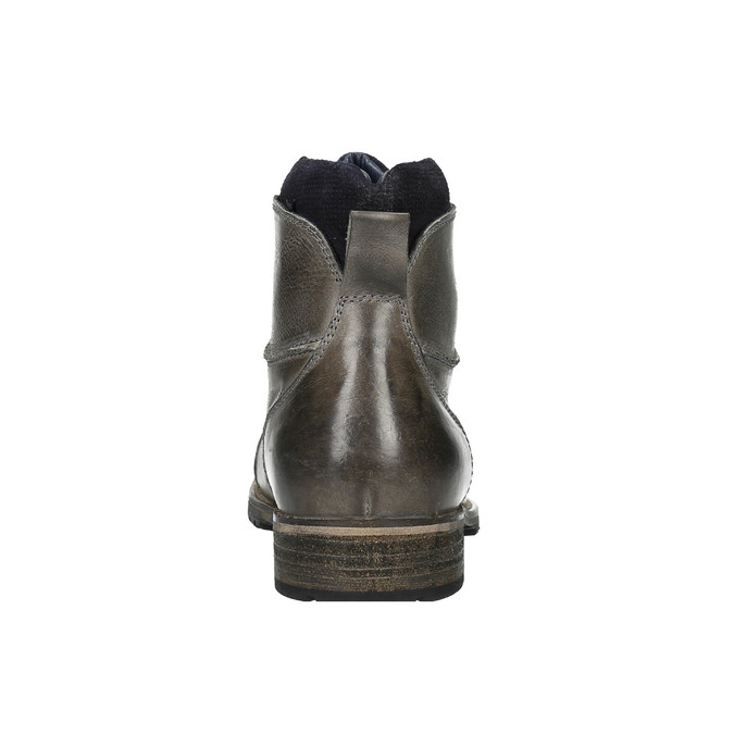 Pánská kožená obuv bata, šedá, 894-2650 - 17