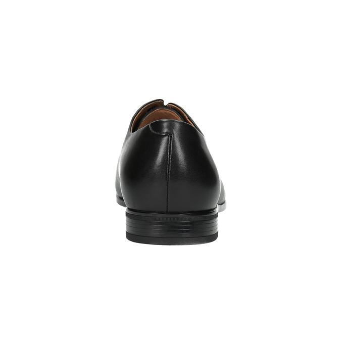 Černé kožené polobotky bata, černá, 824-6769 - 17