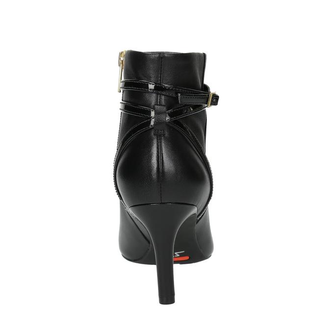 Kožená kotníčková obuv na jehlovém podpatku rockport, černá, 714-6108 - 17