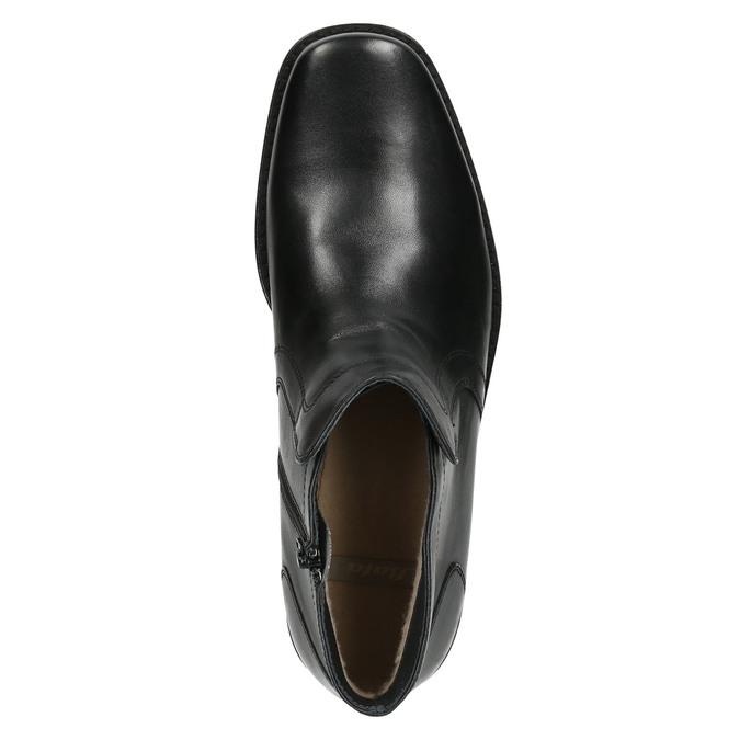Kožená kotníčková obuv se zateplením bata, černá, 894-6641 - 26