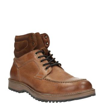 Kožená kotníčková obuv pánská bata, hnědá, 894-3658 - 13