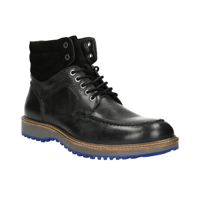 Kožená zimní obuv na výrazné podešvi bata, černá, 894-6658 - 13