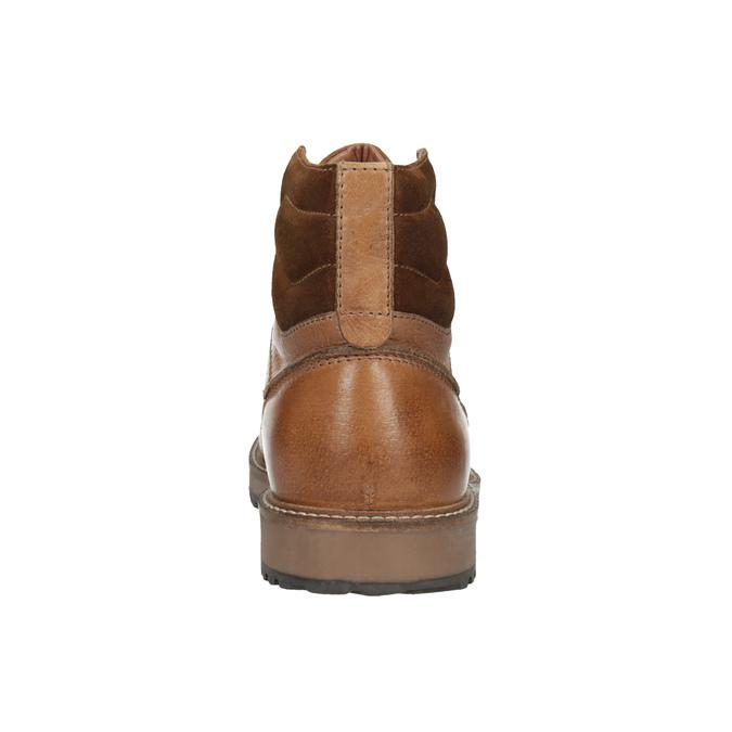 Kožená kotníčková obuv pánská bata, hnědá, 894-3658 - 17