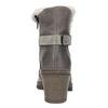 Kožená kotníčková obuv s kožíškem manas, šedá, 696-2602 - 17