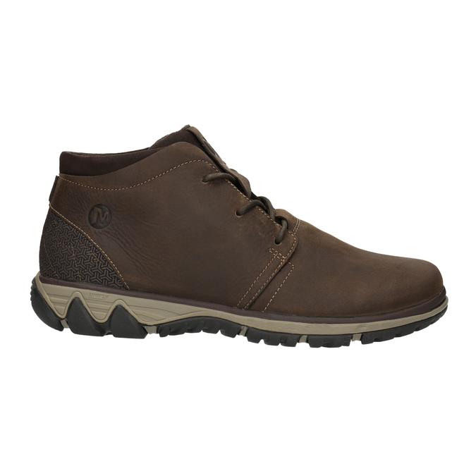 Pánská kožená kotníčková obuv merrell, hnědá, 806-4842 - 15