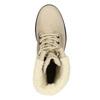 Kožená zimní obuv s kožíškem bata, béžová, 696-3336 - 19