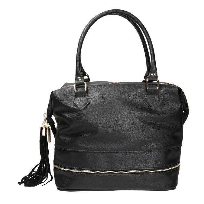 Černá dámská kabelka se zlatými detaily cafe-noir, černá, 961-6009 - 19