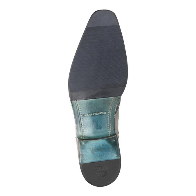 Kožené Chelsea Boots s Brogue zdobením, hnědá, 894-3009 - 26