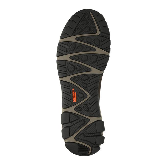 Pánská kožená kotníčková obuv merrell, hnědá, 806-4842 - 26