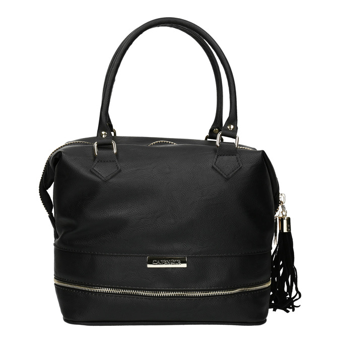 Černá dámská kabelka se zlatými detaily cafe-noir, černá, 961-6009 - 26