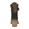 Kožená kotníčková obuv na podpatku manas, hnědá, 696-7601 - 17