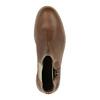 Kožená kotníčková obuv s ozdobným zipem bata, hnědá, 896-3654 - 19