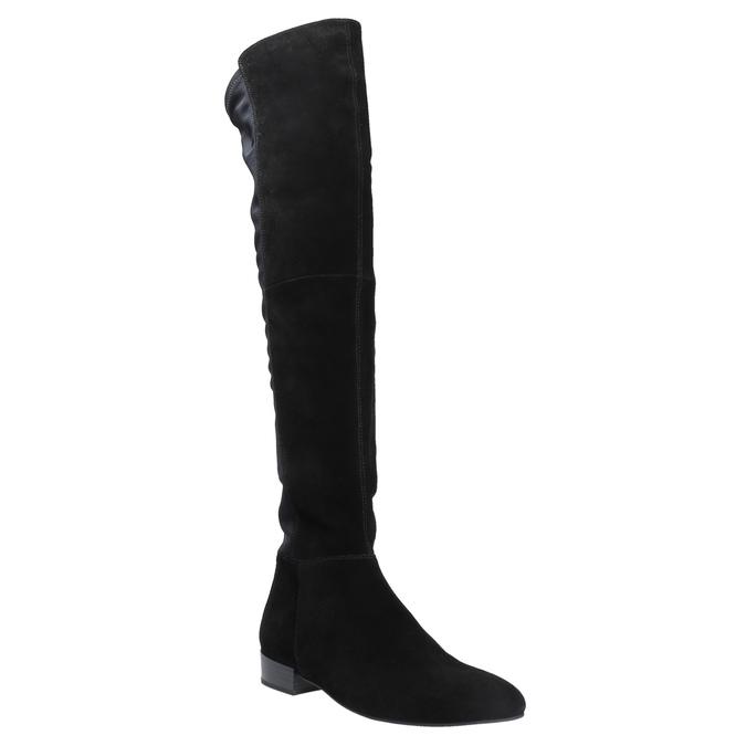Kožené kozačky nad kolena vagabond, černá, 594-6013 - 13