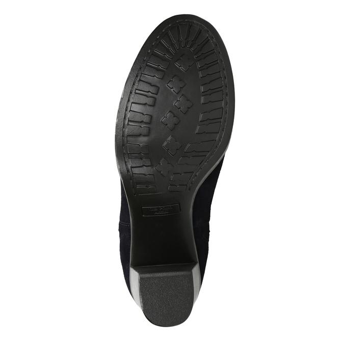 Kožená kotníčková obuv na podpatku u-s-polo-assn-, modrá, 713-9072 - 26