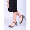Sandály na jehlovém podpatku se zlatými odlesky bata, černá, 729-8630 - 18
