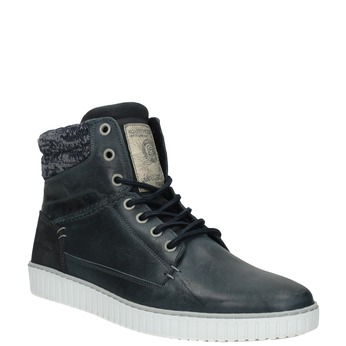 Kožená kotníčková obuv bata, modrá, 846-9615 - 13