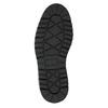 Kožená zimní obuv s károvaným detailem bata, hnědá, 896-4650 - 26