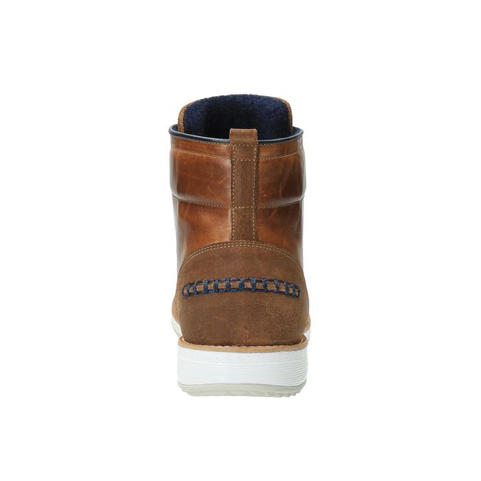 Kožená kotníčková obuv na ležérní podešvi bata, hnědá, 894-3660 - 17